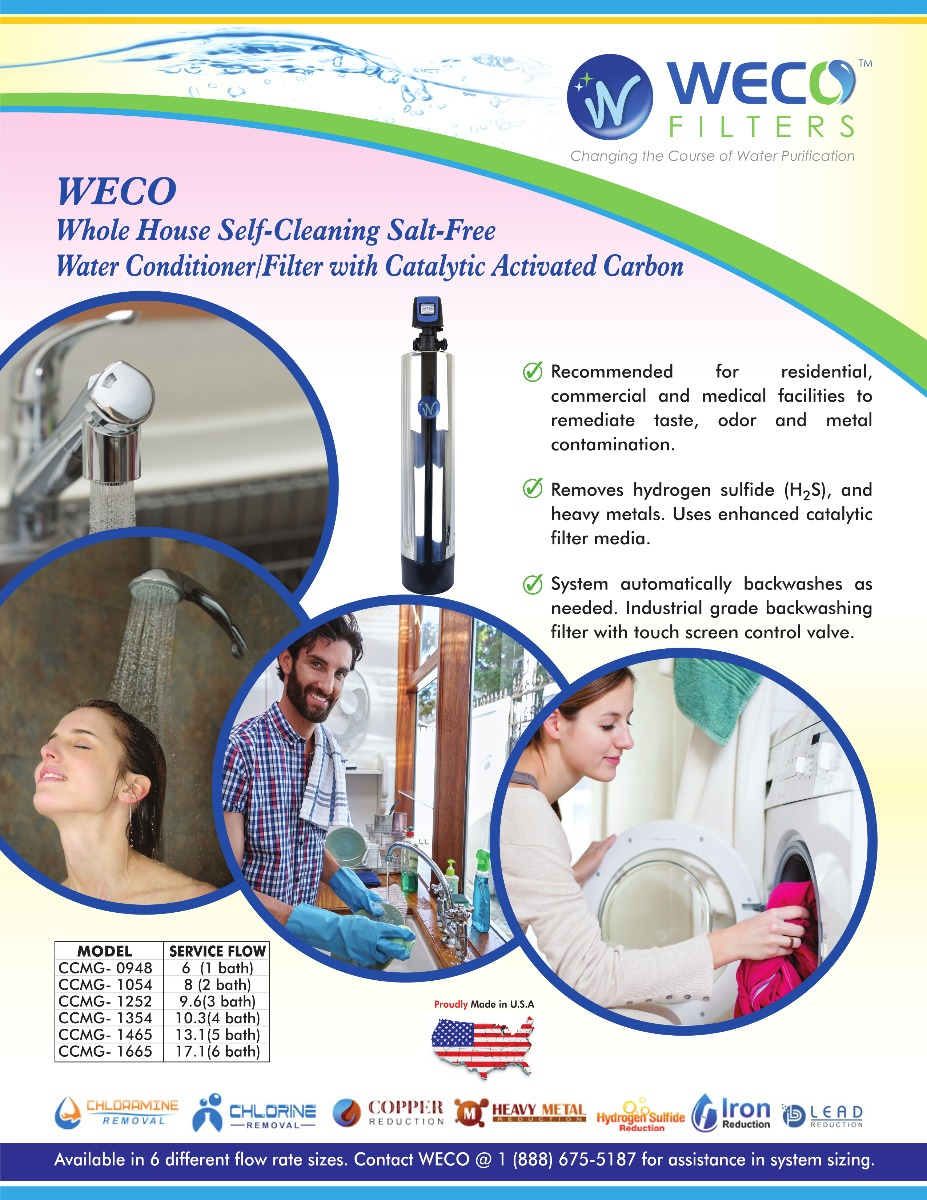 Catalytic Carbon Whole House Water Filter